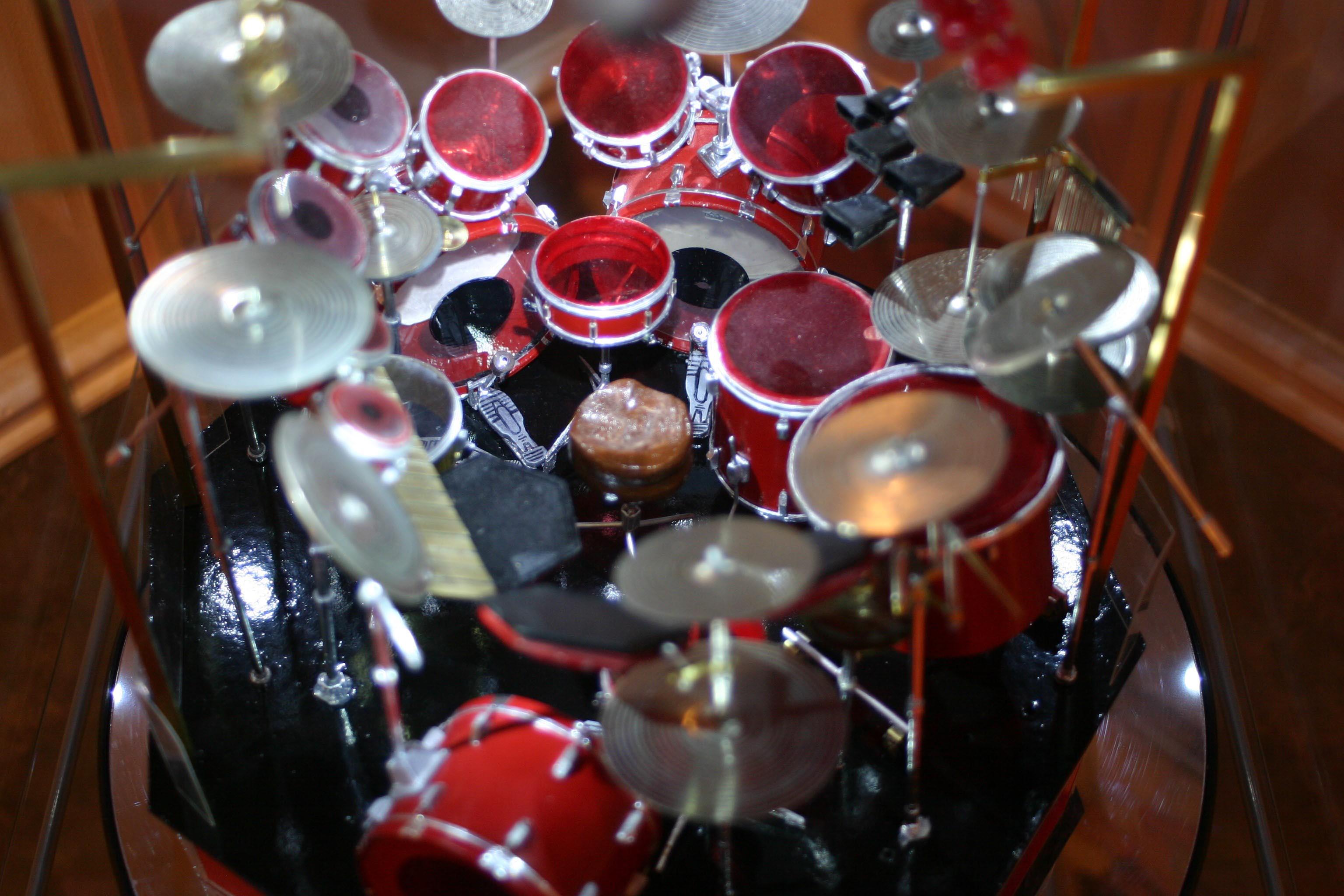 Neil Peart Drum Kit Model By Domenic Nardone