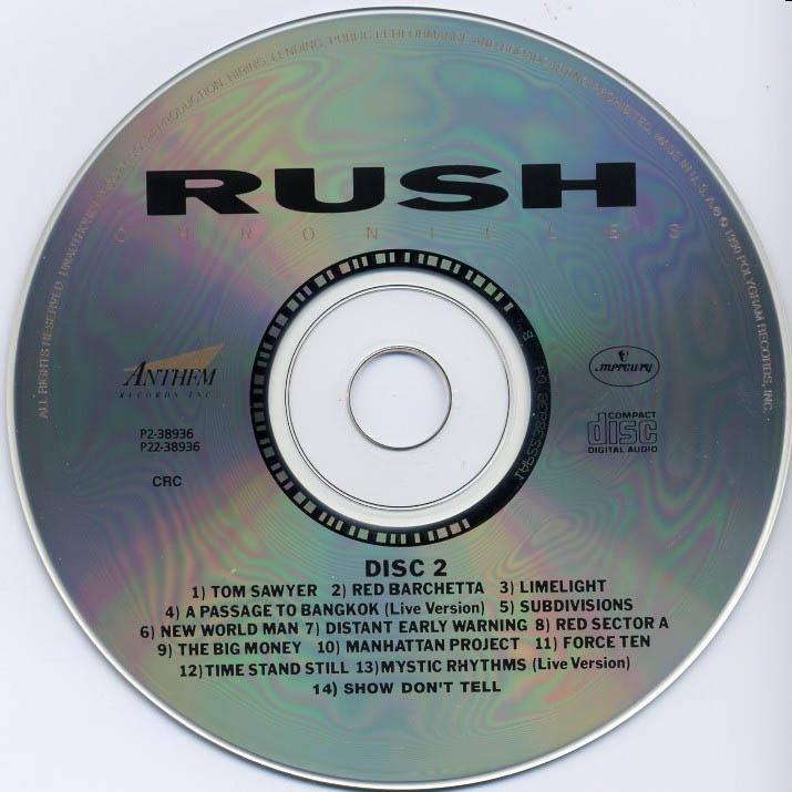 Lyric passage to bangkok lyrics : Rush: Chronicles - Album Artwork