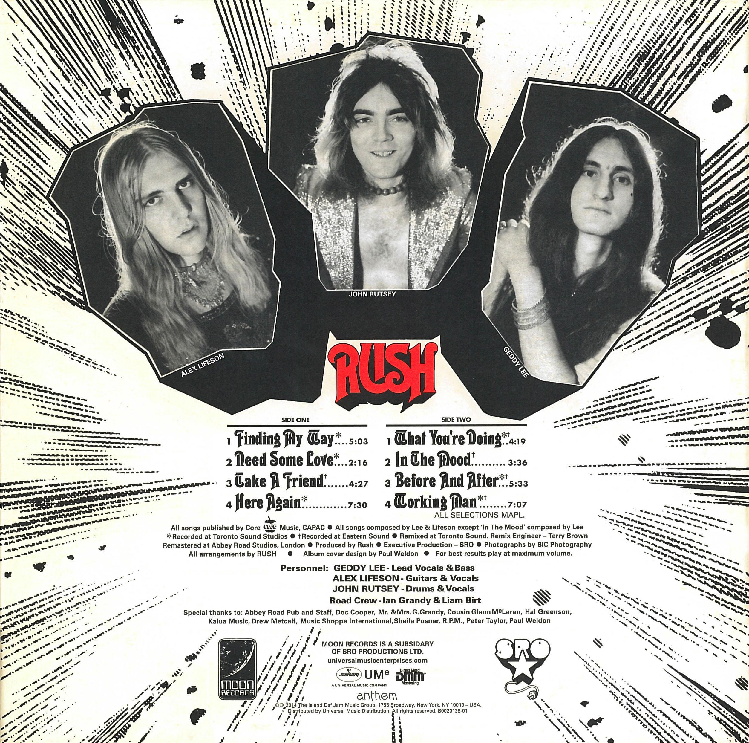 Rush Rediscovered 40th Anniversary Debut Album Reissue