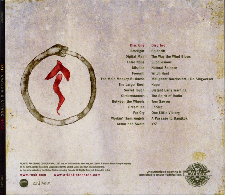 Lyric passage to bangkok lyrics : Rush: Snakes & Arrows Live - Album Artwork