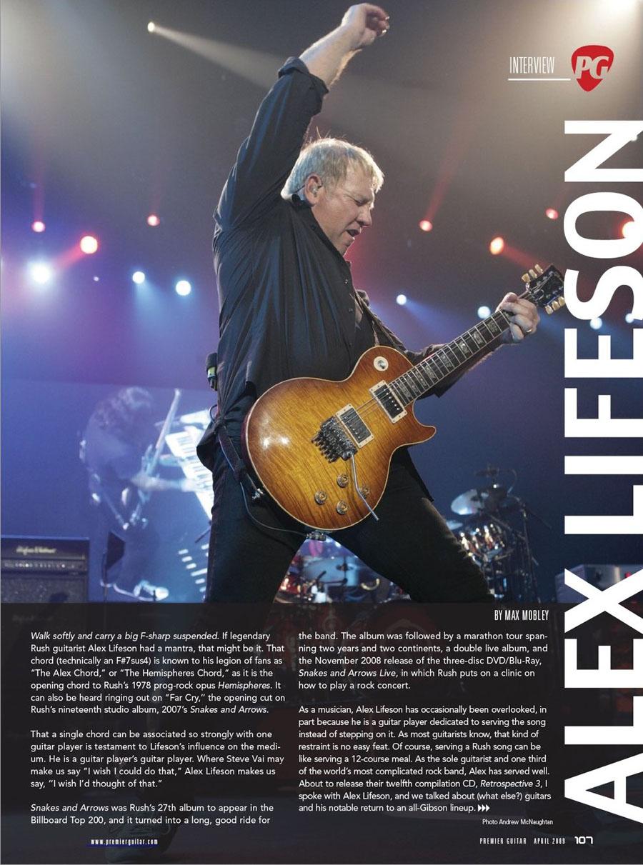 Alex Lifeson Modern Day Tone Warrior Premiere Guitar Magazine