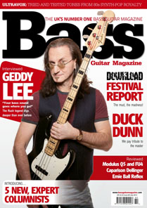 Geddy Lee Bass Guitar Magazine July 2012