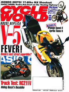 Neil Peart - Cycle World Magazine - February 2003