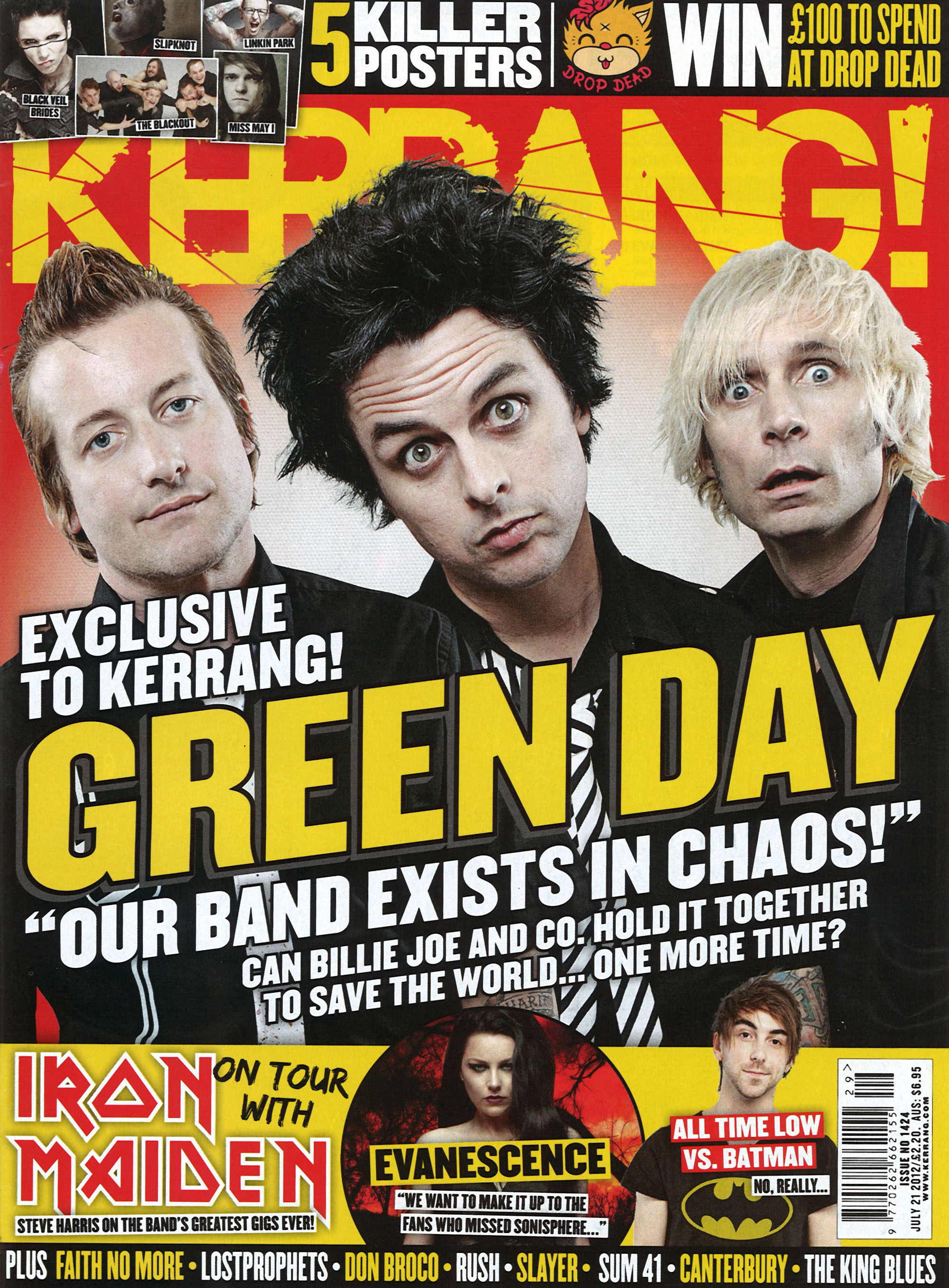 Conquering Mount Rush-More - Kerrang! Magazine - July 21st, 2012