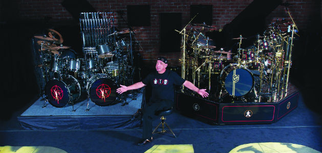 Neil Peart's R40 Live Drum Kits on Display at GearFest 2016