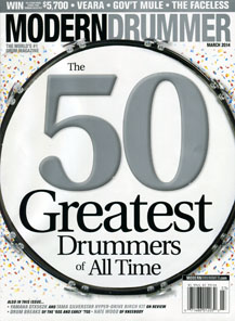Neil Peart Ranks #3 in Modern Drummer's 50 Greatest Drummers of All Time List