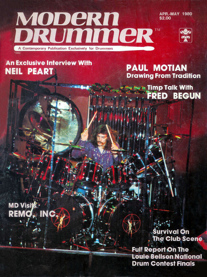 the first neil peart interview with modern drummer