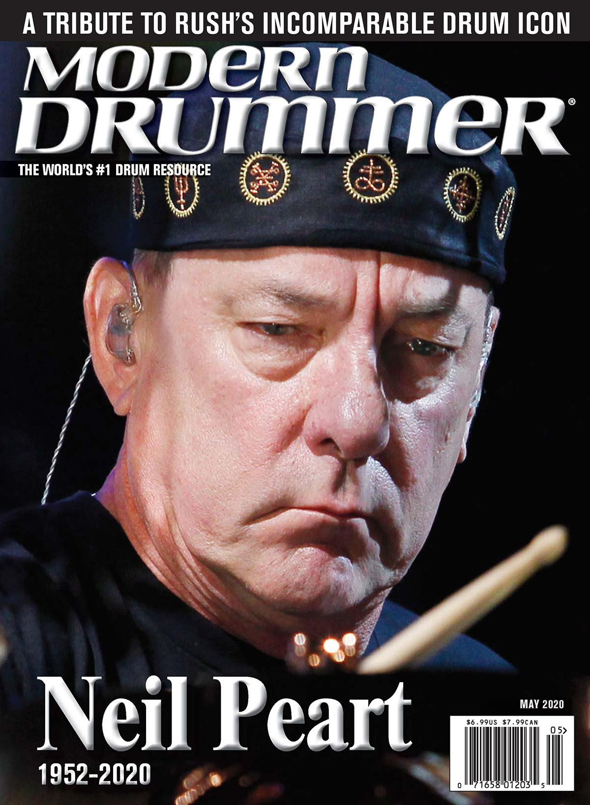 Neil Peart Featured in the May 2020 Issue of Modern Drummer Magazine - Extended Excerpt Now Online