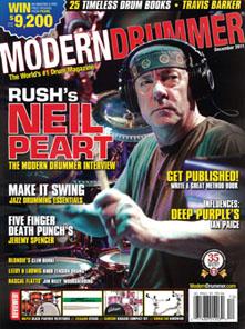 Neil Peart: Modern Drummer Magazine December 2011