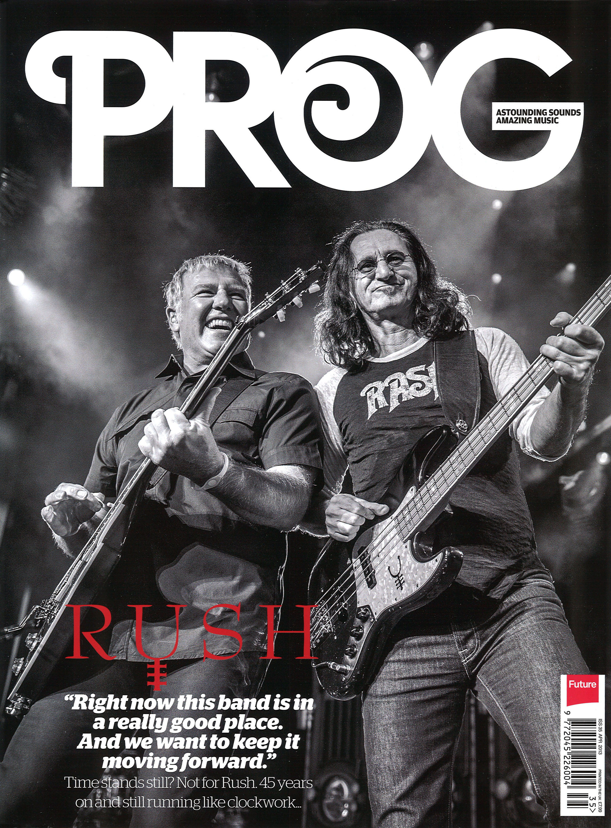 rush  prog hard cover special limited edition magazine
