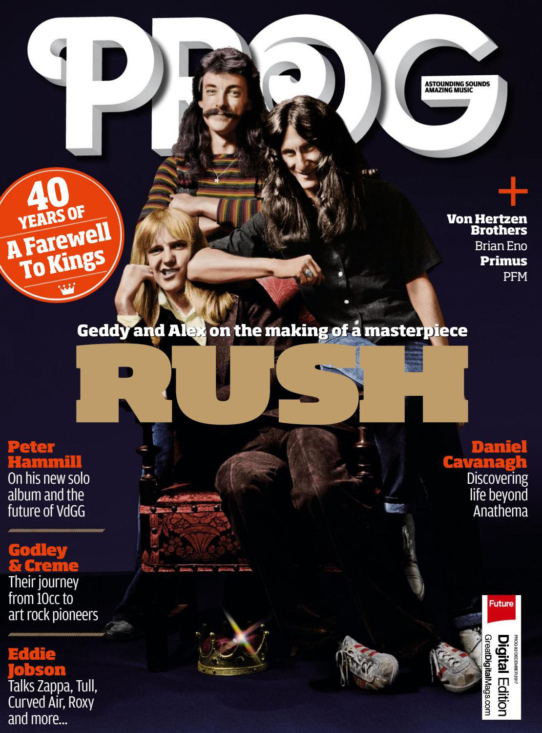 Rush Appear on the Cover of PROG Magazine's December 2017 Issue