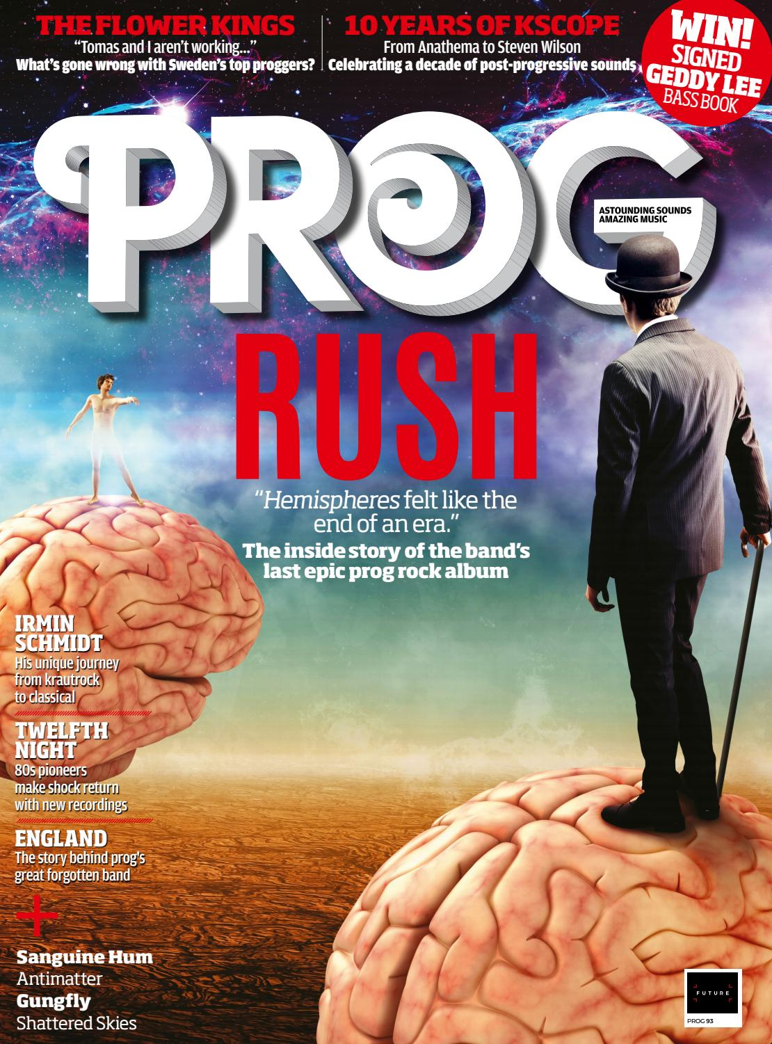Rush Are The Cover Feature In Prog Magazine S December 2018 Issue