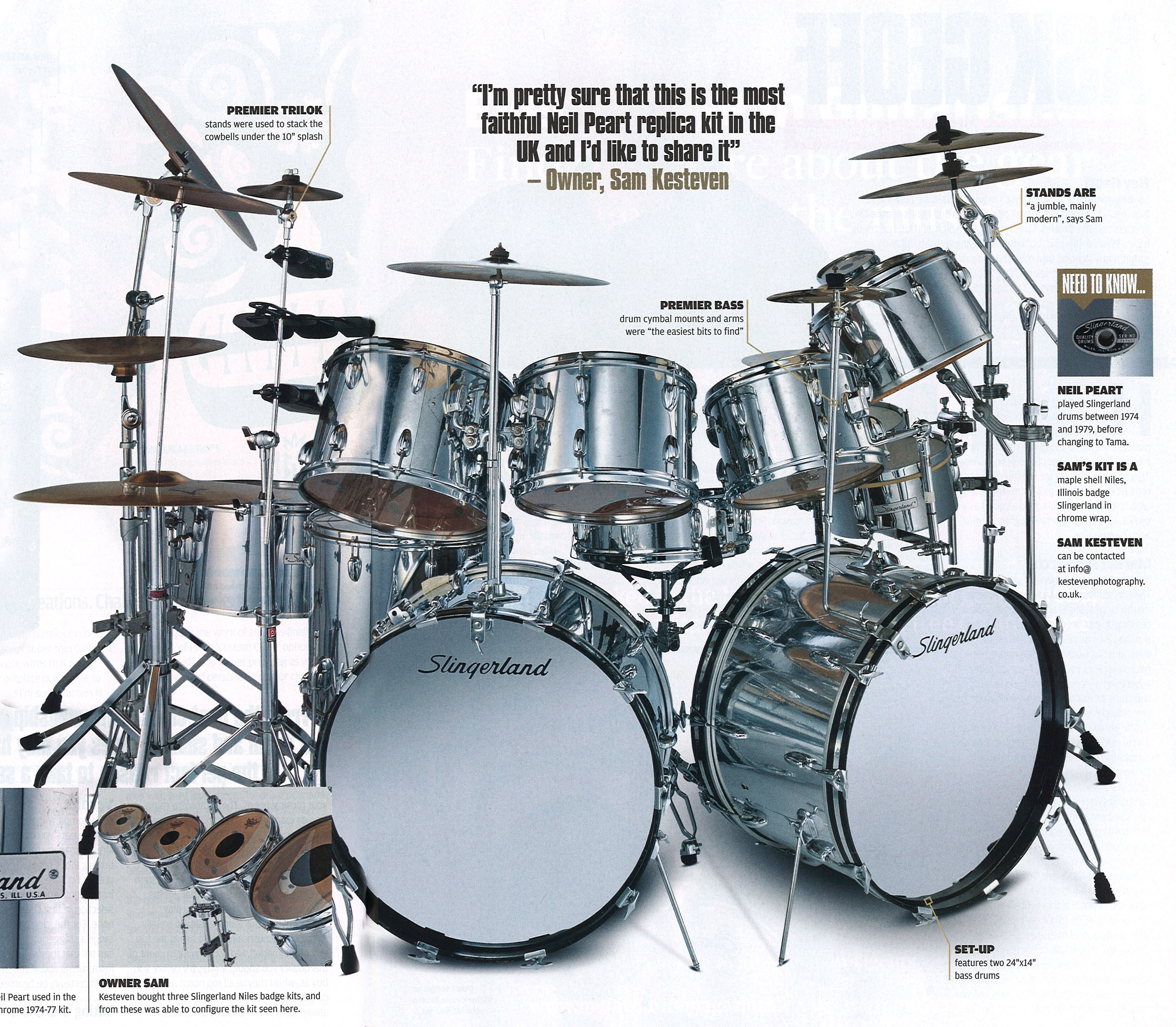 Close Up on Neil Peart - Rhythm Magazine - August 2011