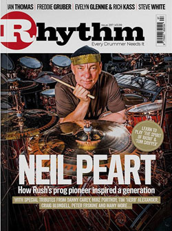 Neil Peart Featured in the November Issue of Rhythm Magazine - Selected Article Excerpts Now Online