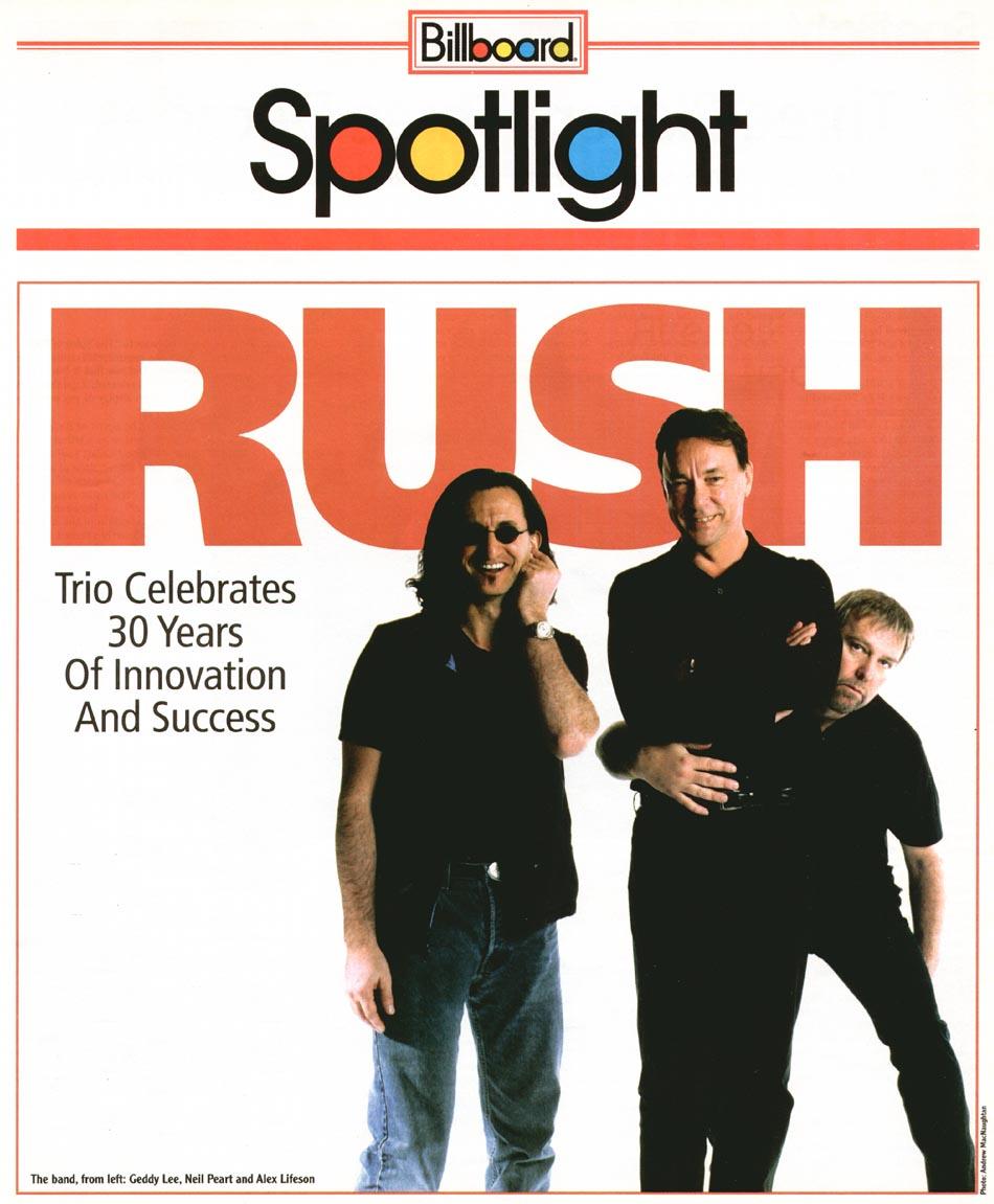 Rush na Billboard em 2004 - Super homenagem agora disponível on line