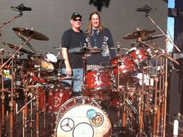 Neil Peart and Danny Carey