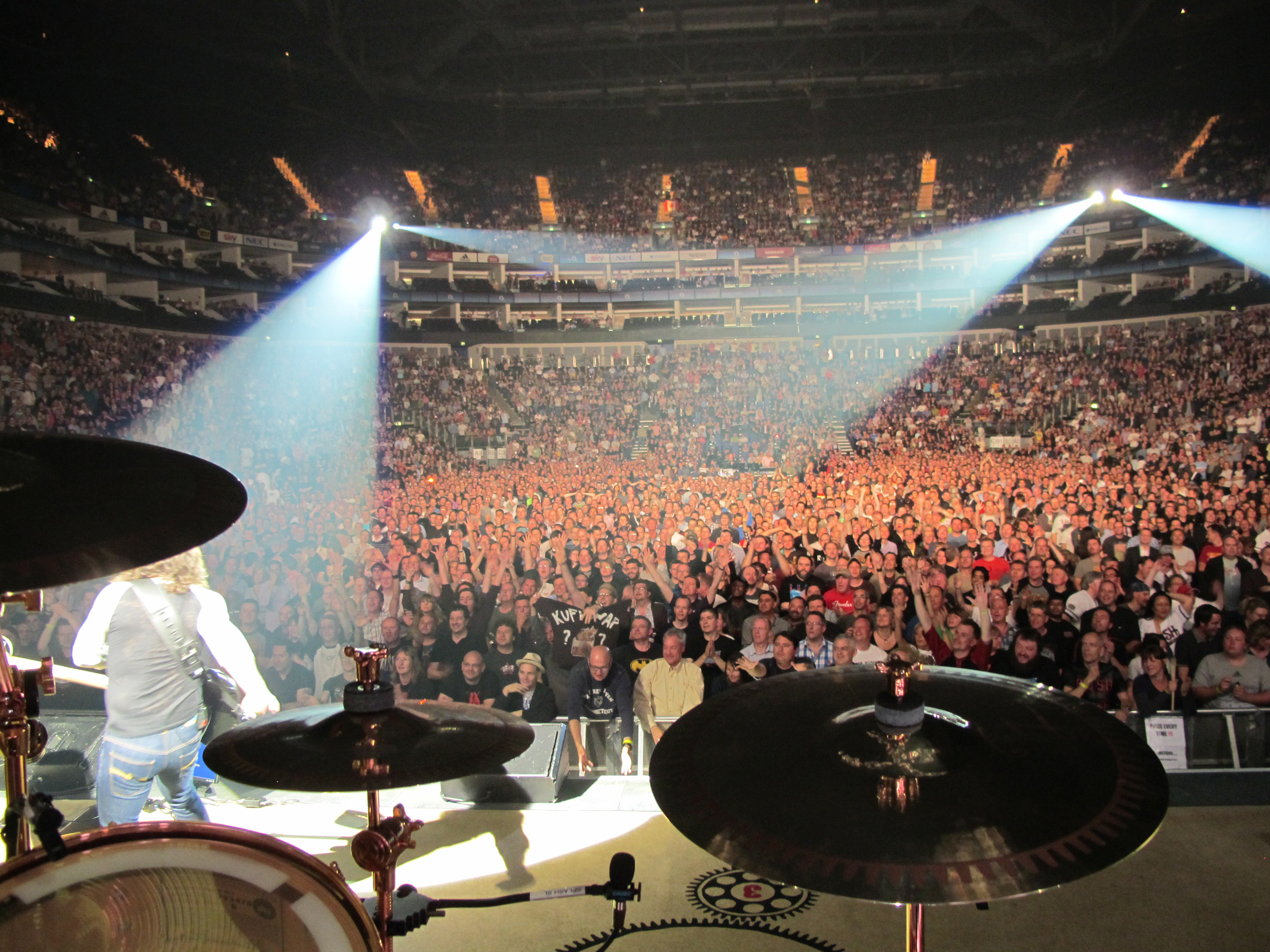 View of crowd from stage neil peart s news weather