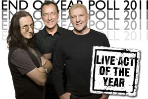 Rush Named Best Live Act of 2011
