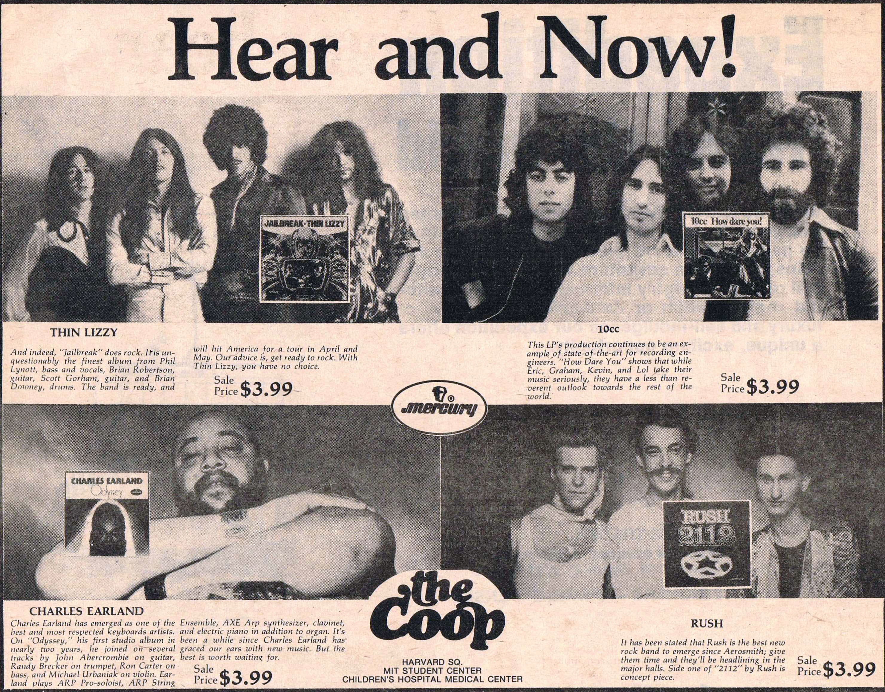 Up next is an interesting advertisement for 2112. Anyone else tired of  seeing this particular image of the band?