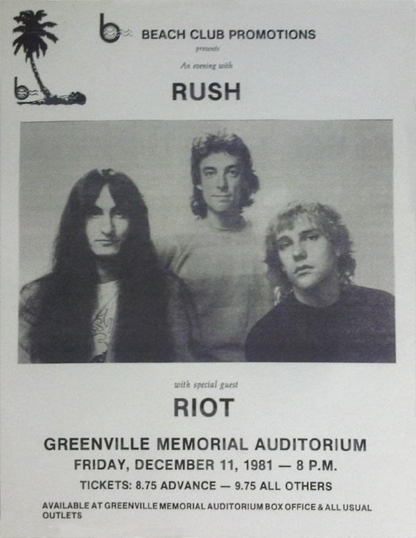 RAUDO: los discos de RUSH de peor a mejor - Página 13 1981-12-11
